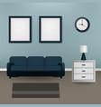 interior design living room beautiful home vector image