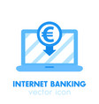 internet banking payment in euro icon