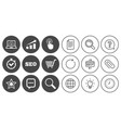 internet seo icons online shopping charts