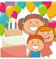 Kids birthday celebration cartoon vector image vector image