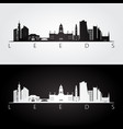 leeds skyline and landmarks silhouette vector image vector image
