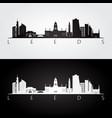 leeds skyline and landmarks silhouette vector image vector image