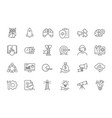 line startup icons set on white background vector image vector image