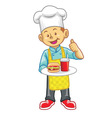 little chef vector image