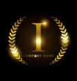 luxury golden letter i for premium brand identity vector image vector image