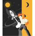 man science space vector image