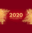 merry christmas and happy new 2020 year shining vector image vector image