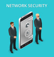 mobile phone security cellphone personal access vector image