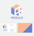 module logo 3d illusion architecture building vector image vector image