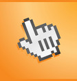mouse hand icon orange vector image vector image