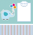 New baby shower card with elephant vector | Price: 1 Credit (USD $1)
