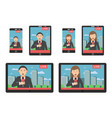 news on screen at different digital devices vector image vector image