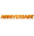 orange anniversary 3d banner