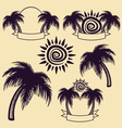 palm tree and sun vector image