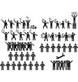 People holding party messages vector image vector image