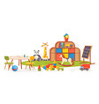 playing room kindergarten classroom furniture vector image vector image