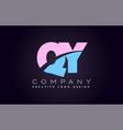 qy alphabet letter join joined letter logo design vector image vector image