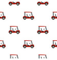 red golf cart pattern seamless vector image vector image