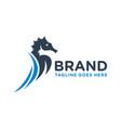 seahorse animal logo design vector image vector image
