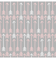 seamless arrow pattern in gray pink and white vector image vector image