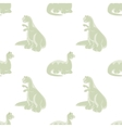 Seamless background Funny dinosaur vector image vector image