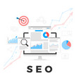 seo optimization concept search engine vector image vector image