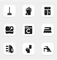 set of 9 editable hygiene icons includes symbols vector image vector image
