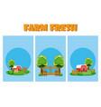 set of farm fresh cartoons vector image vector image