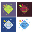 set of sale banners template design in color vector image vector image