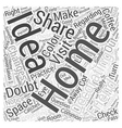 Sharing Home Decorating Ideas Word Cloud Concept vector image vector image