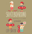 skate poster vector image vector image