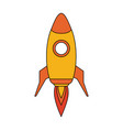 space rocket launch icon vector image vector image