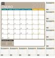 Spanish Calendar 2017 vector image vector image