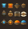 steampunk asset for your mobile game retro vector image vector image
