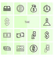 tax icons vector image vector image