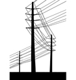 Telegraph poles vector image vector image