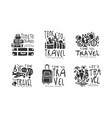 time to travel original design with packed vector image vector image