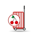 trolley shop juicy cherry fruit vector image vector image