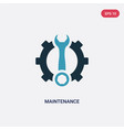 two color maintenance icon from industry concept vector image vector image