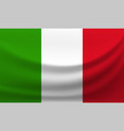 waving national flag of italy vector image vector image