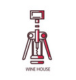 wine house icon template of wine modern vector image vector image