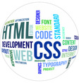 word cloud html and css vector image vector image