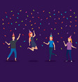young people on a party design vector image vector image