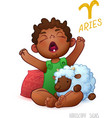 Zodiac sign Aries Horoscope Sign Aries African vector image vector image