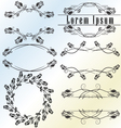 Vintage calligraphic design element set vector image