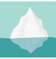 Iceberg Blue water Flat design Winter background vector image