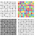 100 rags icons set variant vector image vector image