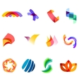 12 colorful symbols set 20 vector image vector image