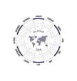 2018 calendar templatecircle calendar vector image vector image