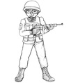 A simple sketch of a soldier vector image vector image